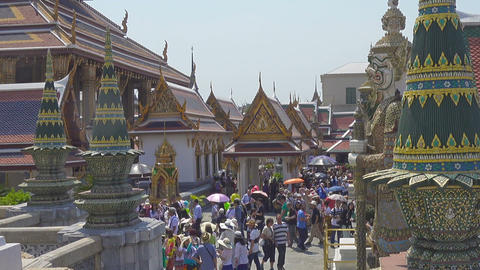 Tourists near in Grand Palace in Bangkok Footage