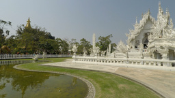 white temple in chiang mai Footage