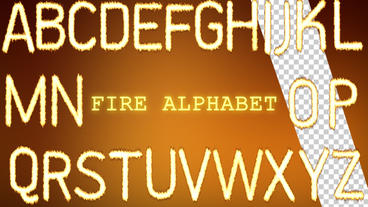Fire Alphabet After Effects Project