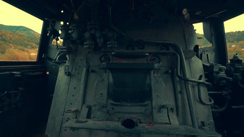 Interior of an Old Steam Engine Live Action