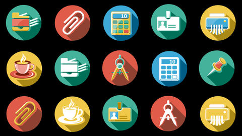 Business And Startup Flat Icons Set. 4K. 2