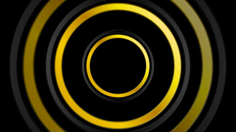 Golden and black abstract circles video animation Animation