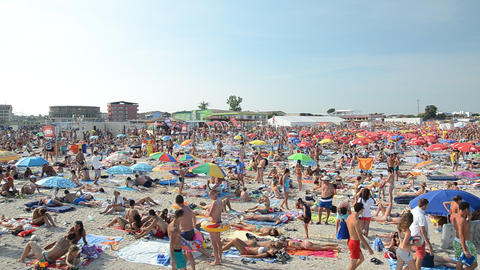 People have fun at the Black Sea Footage