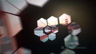 Hexagon Animator, Slideshow After Effects Template