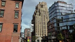 New York City 688 Buildings in 8th and Greenwich Avenue downtown Footage
