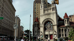 New York City 692 First Baptist Church on Broadway Upper West Side Footage