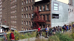 New York City 651 apartment buildings below The High Line Chelsea Footage