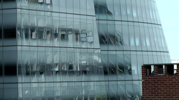 New York City 653 glass facade of IAC Building at High Line Footage