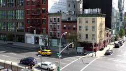 New York City 657 crossing West 18th street and 10th Avenue Footage