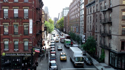 New York City 664 Chelsea street view and pizzaria at corner, 10th avenue Footage