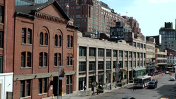 New York City 677 downtown street seen from High Line Footage