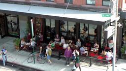 New York City 680 restaurant in Washington Street Greenwich village Footage