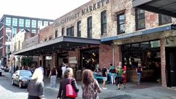 New York City 685 Gansevoort Market in Greenwich Village Footage
