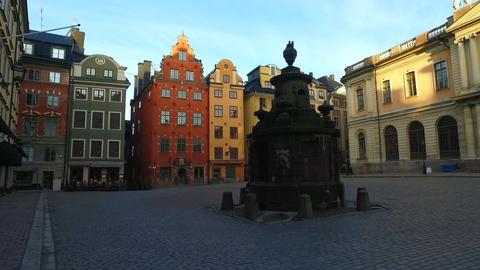 Stortorget Public Square, Gamla Stan, Sweden Footage