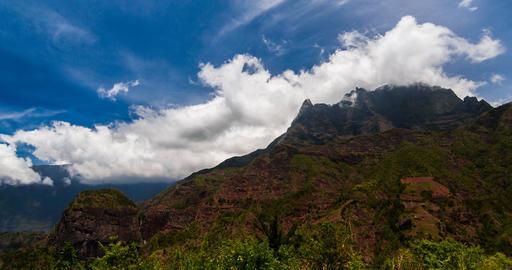 4K, Time Lapse, Epic Clouds At Mountain Range, Cilaos, Reunion Live Action
