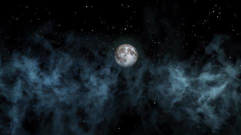 Night Sky Clouds GIF