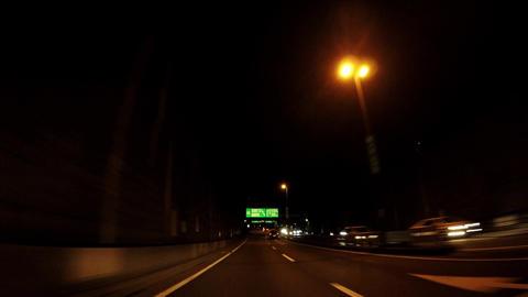 Road in Japan. Capital highway in Tokyo, running image ビデオ