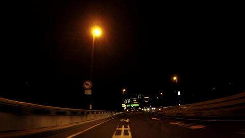 Capital highway in Tokyo, Japan, running image ビデオ