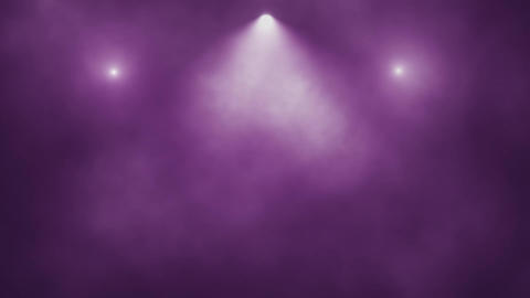 Purple Stage Lights and Smoke VJ Loop Motion Background Animation