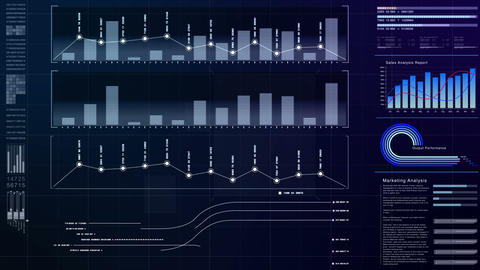 Business Infographic Screen Display Animation