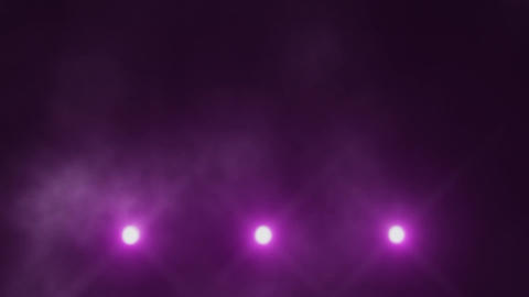 Fuchsia Triple Stage Lights Below and Smoke VJ Loop Background Animation
