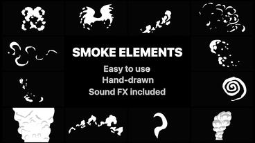 Funny Smoke Elements After Effects Template