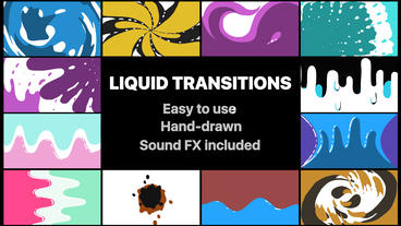 Liquid Motion Transitions Pack After Effects Template