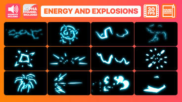 Energy And Explosion Elements After Effects Template