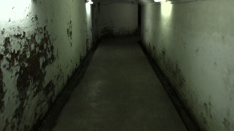 Walking in a mysterious underground tunnels ビデオ