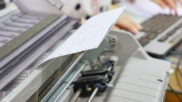 Dot Matrix printer documents 영상물