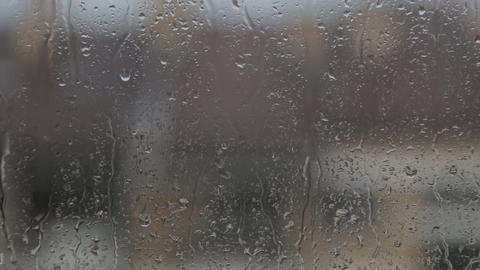 Raindrops On Window Glass ビデオ