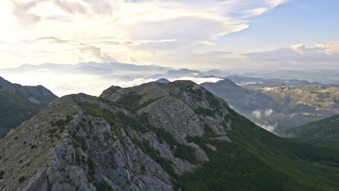 In the mountains among the clouds Footage