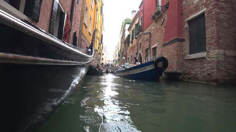 View of Venice from a gondola Live Action