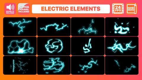 Hand Drawn Electric Elements Pack Premiere Pro Template