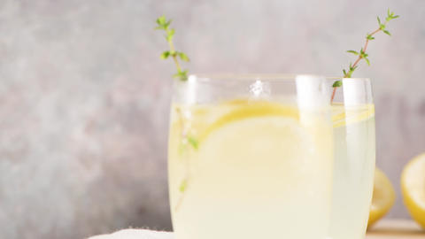 Cold lemonade Footage