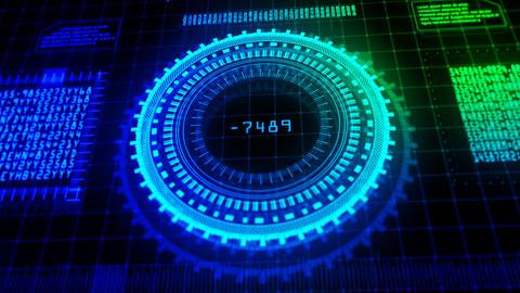 Hi-Tech HUD digital display holographic background Animation
