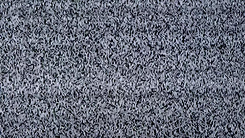 Television static noise, black, white Footage