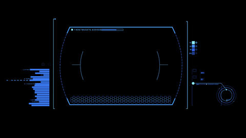 Blue HUD Infographic Interface Motion Graphic Element Animation