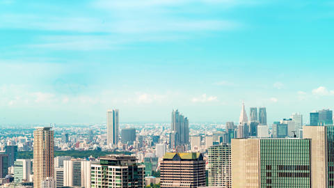 Time-lapse of the Tokyo skyline GIF