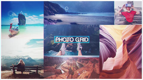 Photo Grid After Effects Template