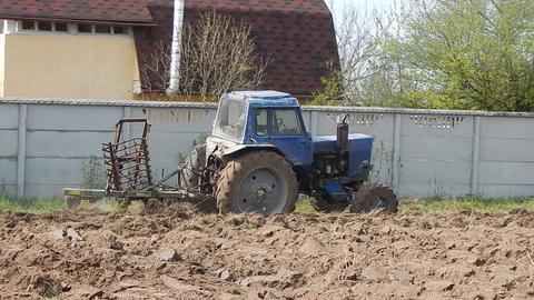 Tractor In The Field 0