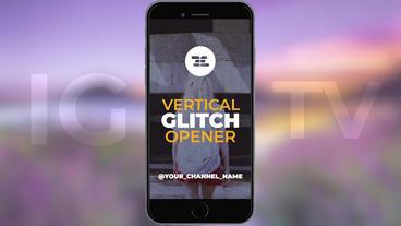 Vertical Glitch Opener Premiere Pro Template