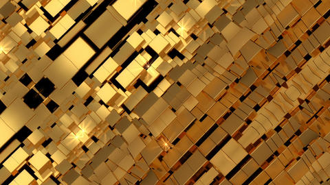 Golden Abstract Kaleidoscope Background CG動画素材