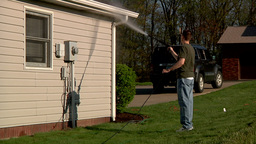 Power Washing Home Exterior Footage