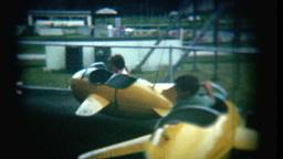 Vintage Film Amusement Park Ride Footage