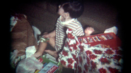 Vintage Film Christmas Morning Presents Footage