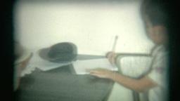 Vintage Film Bath Time stock footage