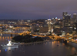 Pittsburgh Skyline Night Footage