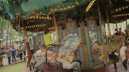 Bryant Park Carousel stock footage