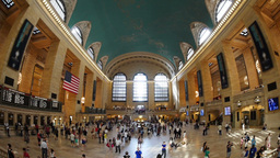 Grand Central Station Fisheye Footage